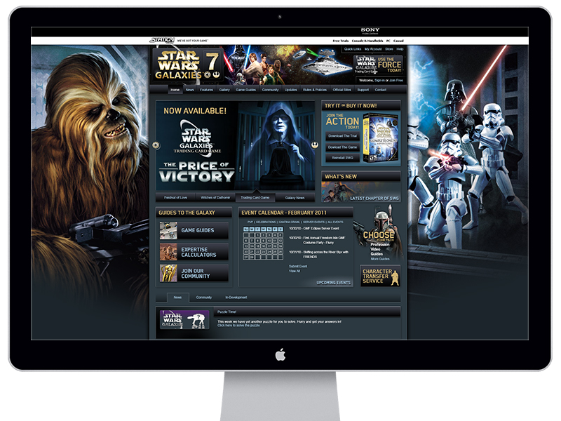 Star Wars Galaxies 7 Website