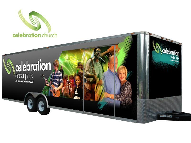 Celebration Church Trailer Wrap Project