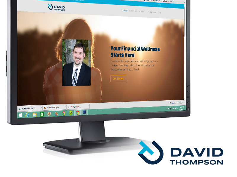 David Thompson Financial Website and Logo