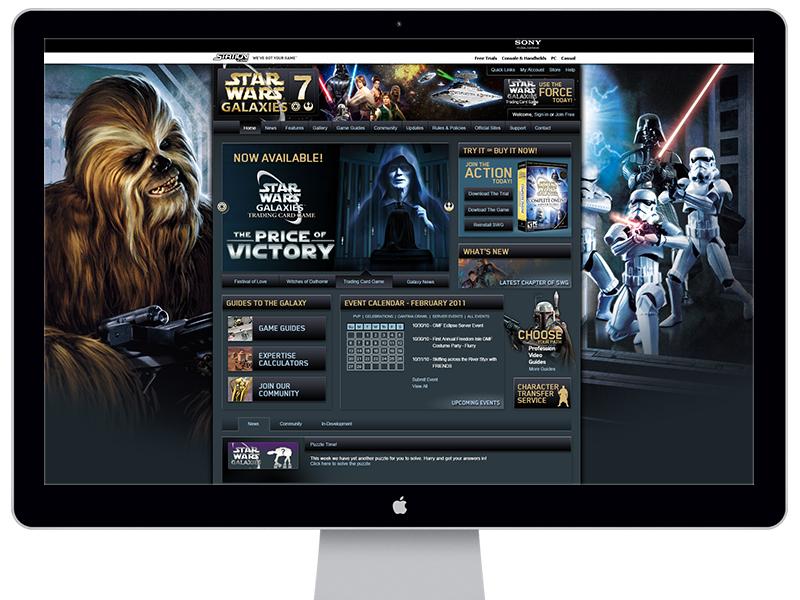 Star Wars Galaxies 7 Website