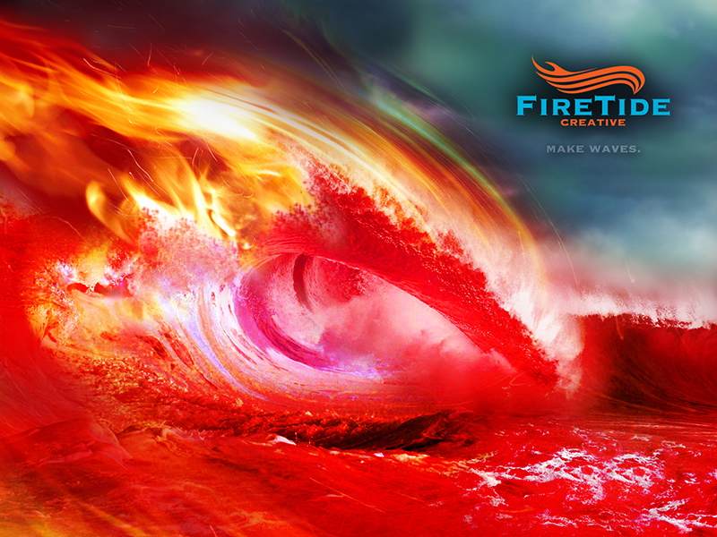 FireTide Creative Fire Wave Wallpaper